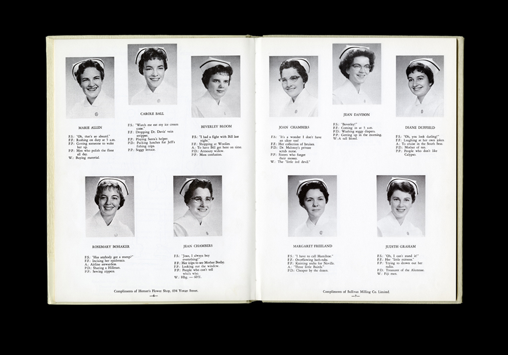 Women's College Hospital School of Nursing Graduates,1960 Yearbook