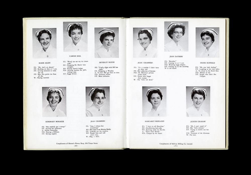 Women's College Hospital School of Nursing Graduates,1960 Yearbook
