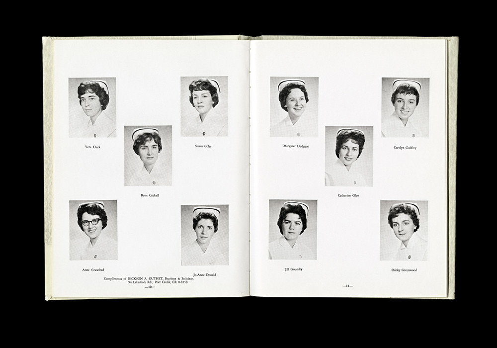 Women's College Hospital School of Nursing Graduates,1961 Yearbook