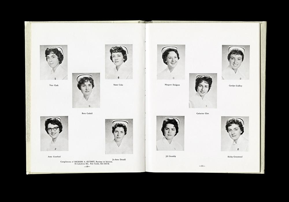 Women's College Hospital School of Nursing Graduates,1961 Yearbook