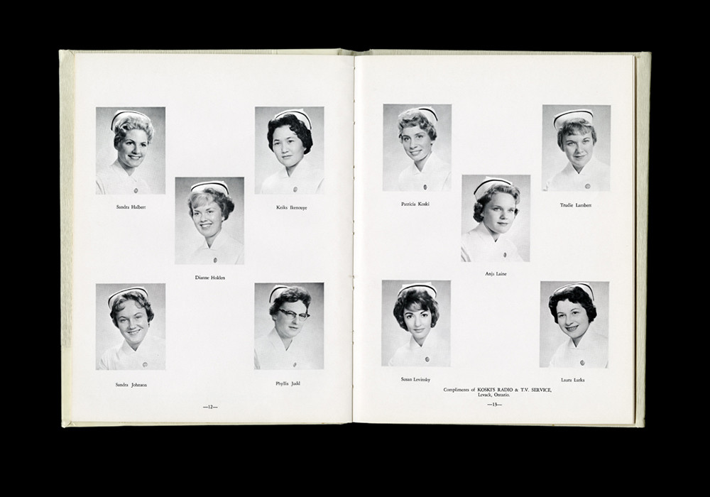Women's College Hospital School of Nursing Graduates,1961Yearbook