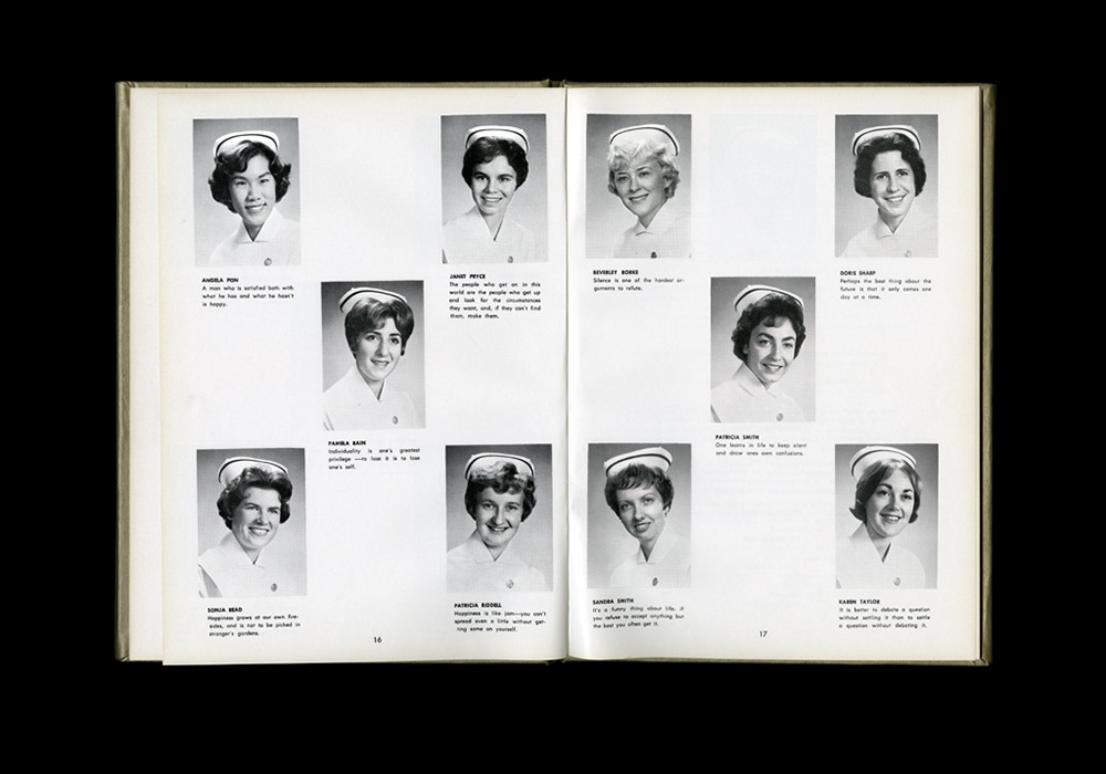 Women's College Hospital School of Nursing Graduates,1962 Yearbook