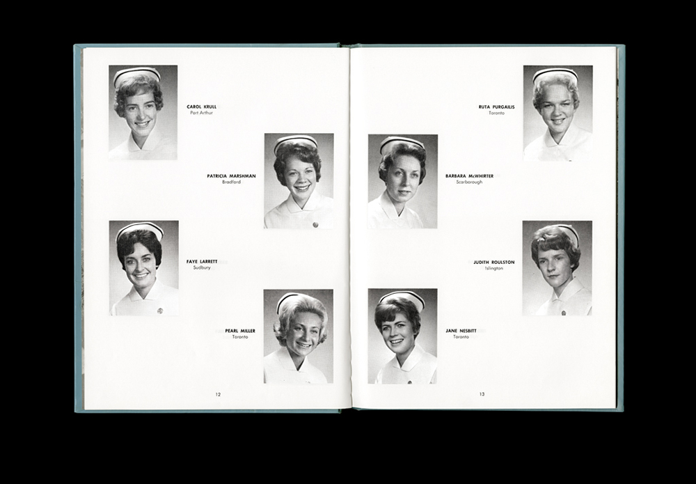 Women's College Hospital School of Nursing Graduates,1963 Yearbook