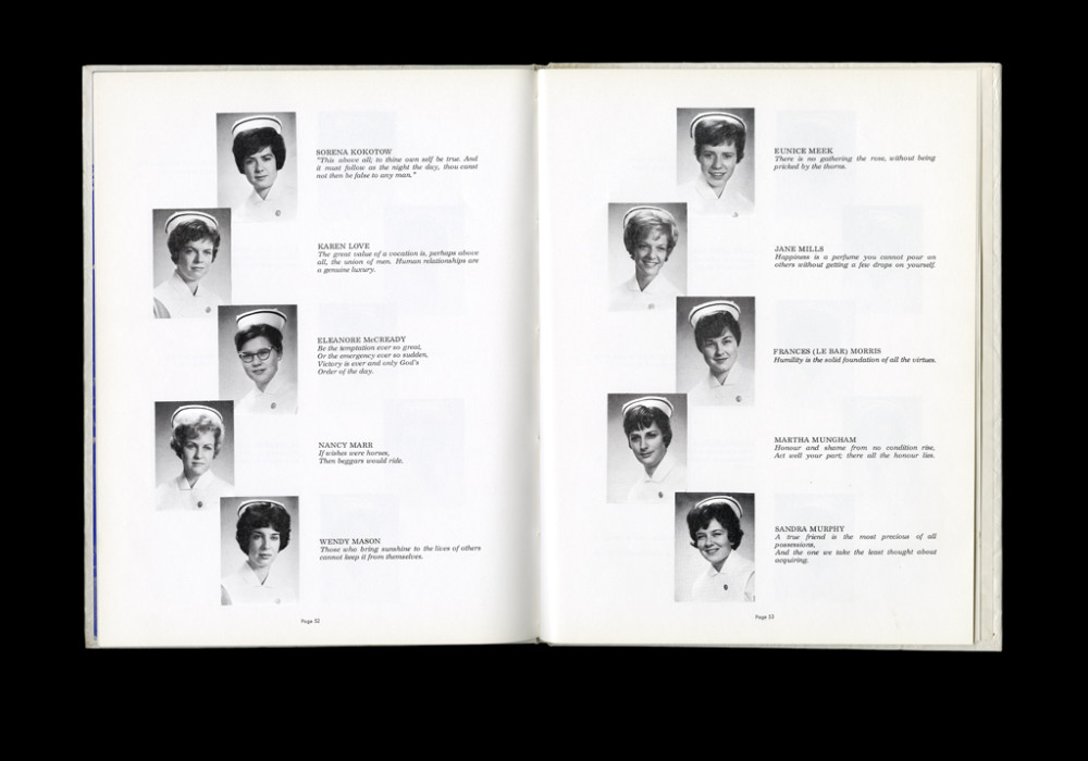 Women's College Hospital School of Nursing Graduates,1964 Yearbook