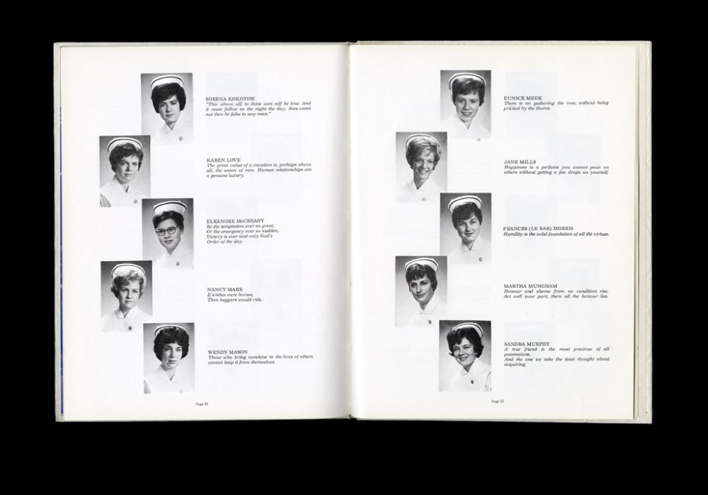Women's College Hospital School of Nursing Graduates,1964 Yearbook