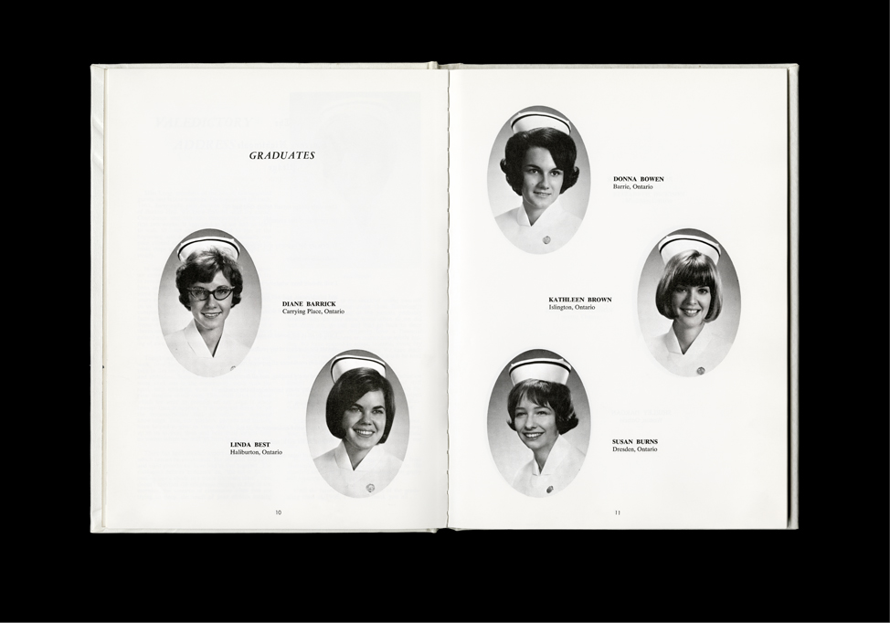 Women's College Hospital School of Nursing Graduates,1966 Yearbook