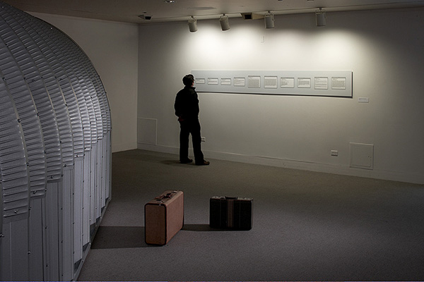 Correspondence with David White, Installation view