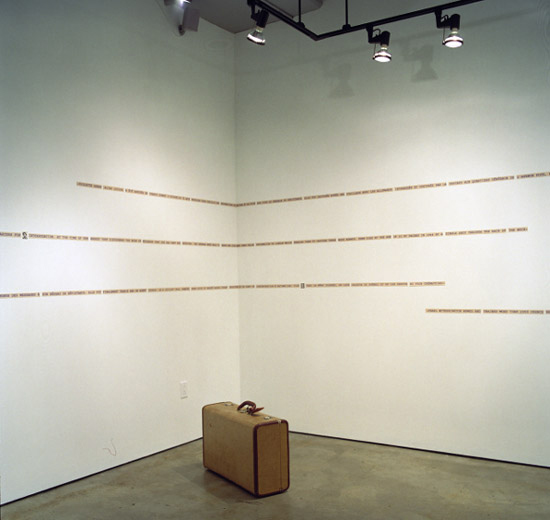 Morse Code room, installation view