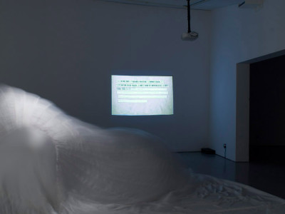 Installation view of Telegrams of Departure